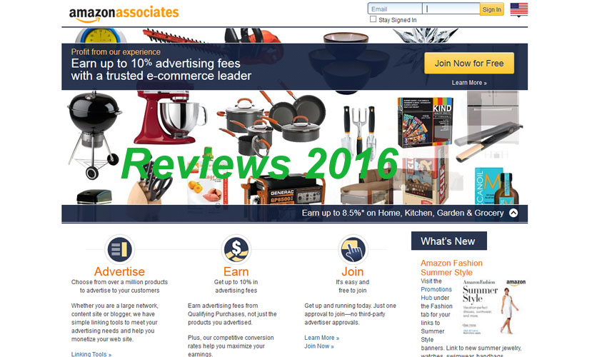 Amazon Associate Review 2016