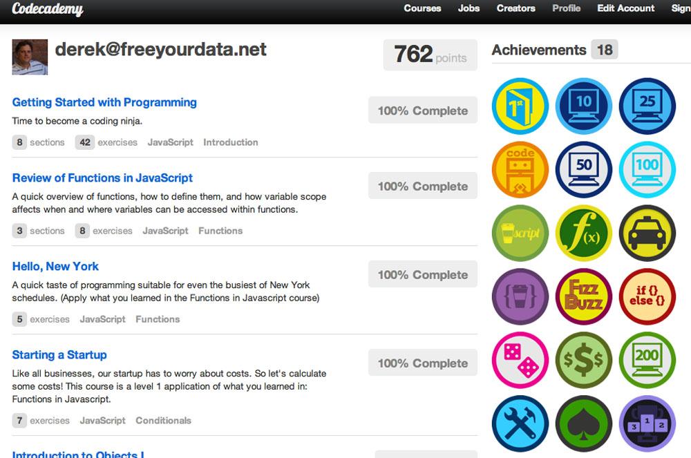 Killer Apps Codecademy