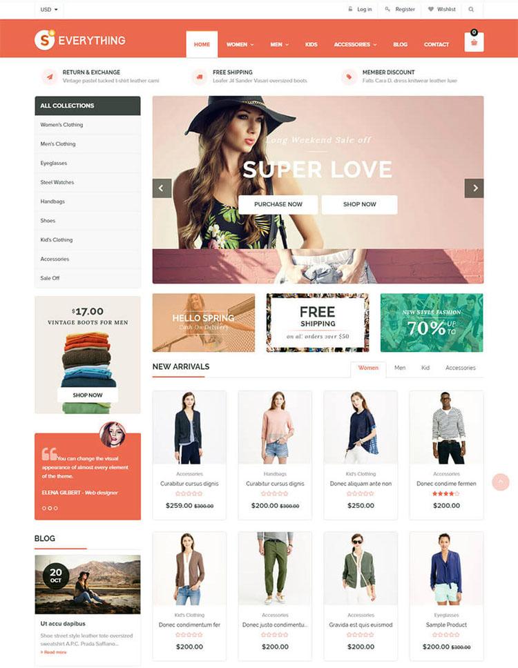 Everything Shopify Theme