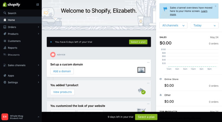 Shopify Dashboard
