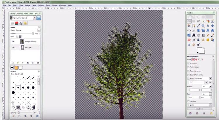 GIMP Image Without Background