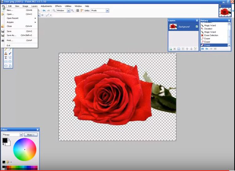 Paint.Net Without Background