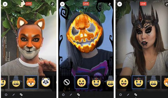 "Facebook Launches Augmented Reality Selfie ""Masks"""