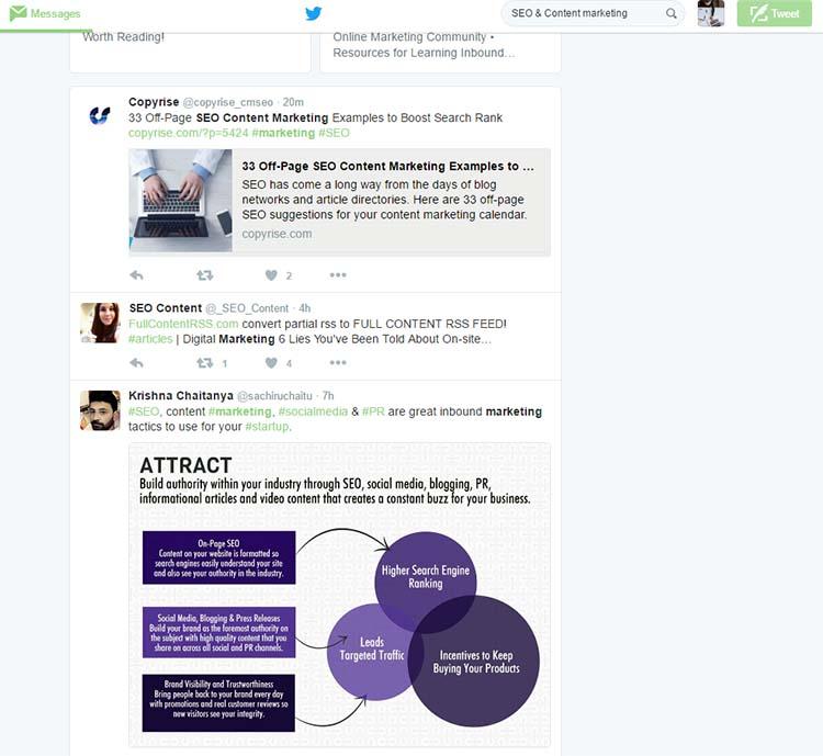 SEO Content Marketing Twitter