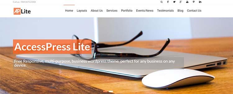 AccessPress Lite Free Plus Responsive WordPress Themes