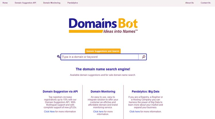 Domainsbot Domain Name Generator Tools