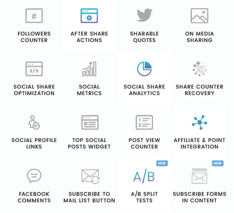 Easy Social Share Buttons Features