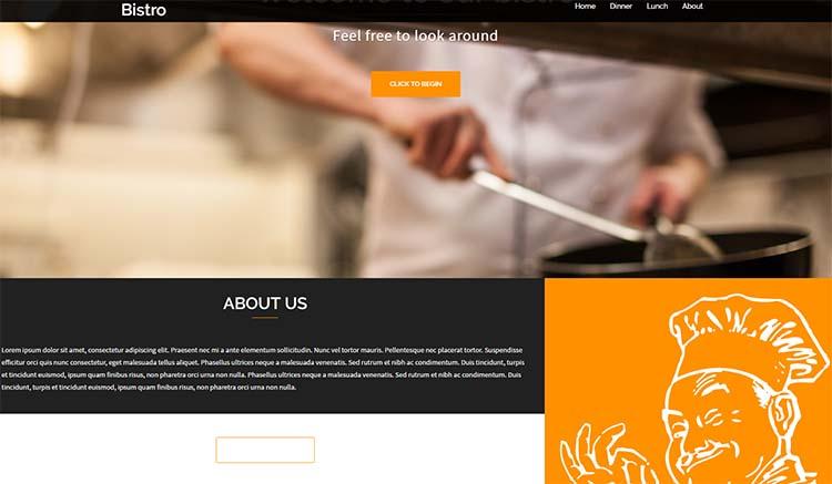 Free Plus Responsive WordPress Themes Bistro