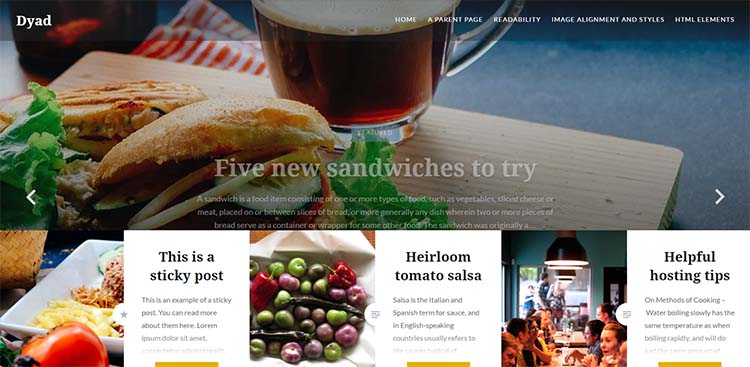 Free Plus Responsive WordPress Themes Dyad