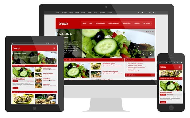 Free Plus Responsive WordPress Themes Leeway
