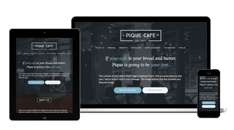 Free Plus Responsive WordPress Themes Pique Cafe