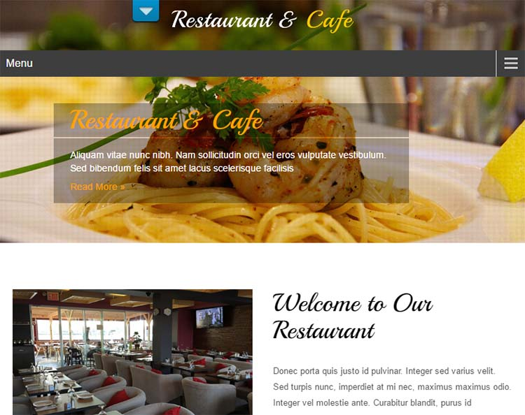 Free Plus Responsive WordPress Themes Restaurant Lite