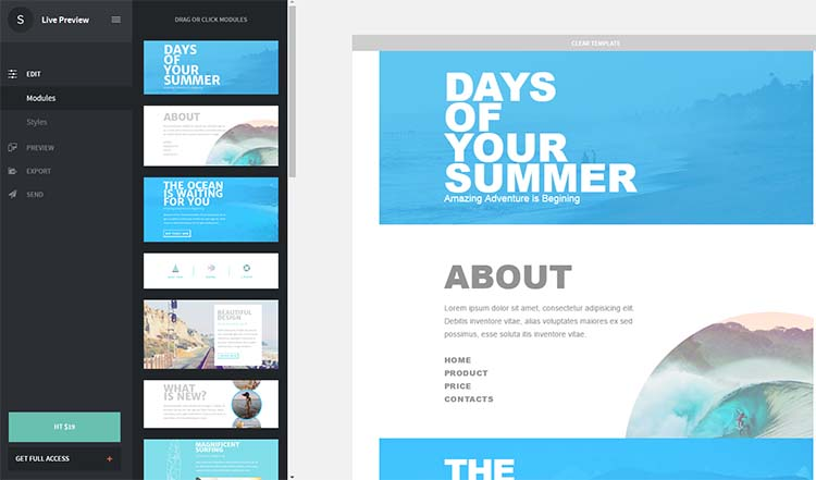 High Tide Email Newsletters Templates