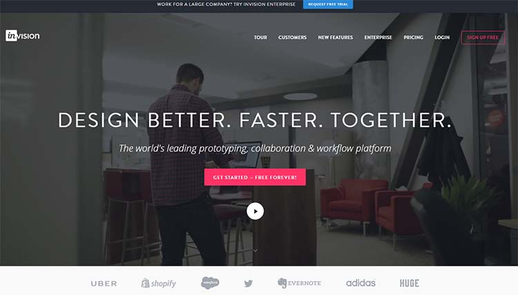 InVision Best Collaboration Tools for Web Designers