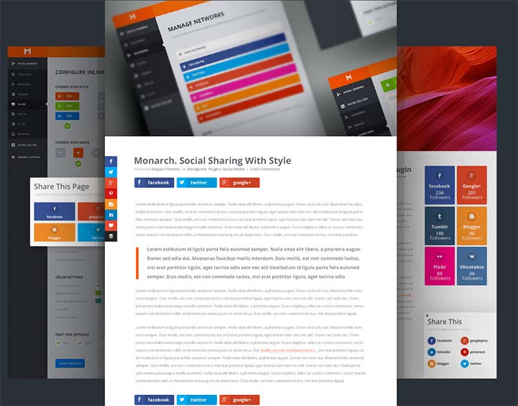 Monarch Best WordPress Social Media Plugins