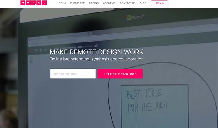 Mural Best Collaboration Tools for Web Designers