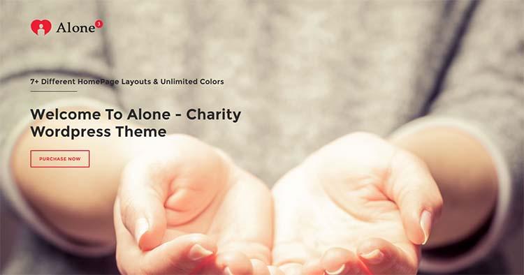 Nonprofit Charity WordPress Themes Alone