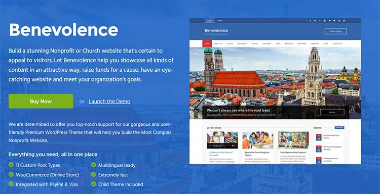 Nonprofit Charity WordPress Themes Benevolence