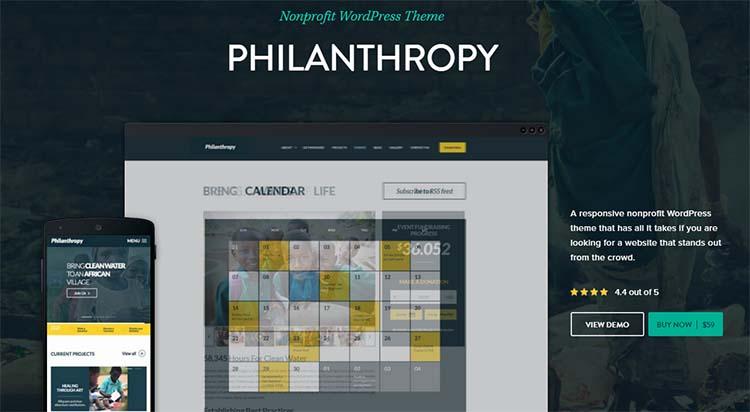 Nonprofit Charity WordPress Themes Philanthopy