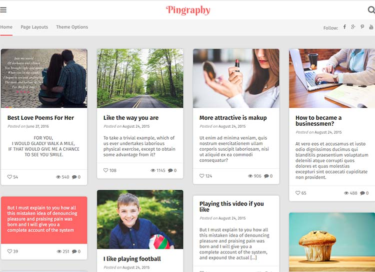 Pingraphy Photography WordPress Themes