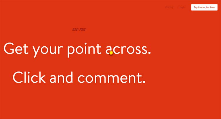 Red Pen Best Collaboration Tools for Web Designers