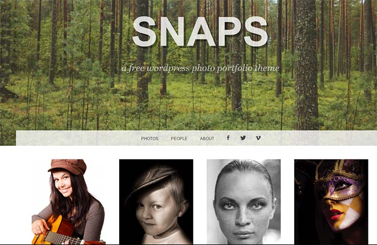 Snaps Photography WordPress Themes