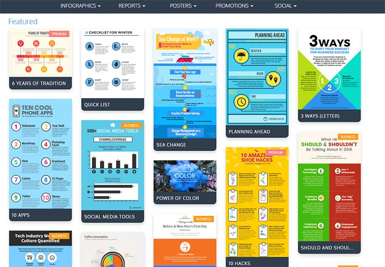Venngage Templates Infographic Generator Tools