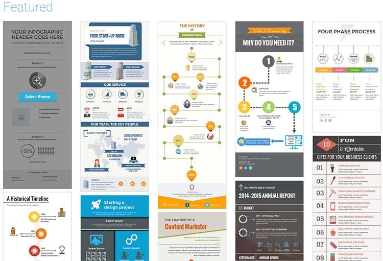 Visme Features Infographic Generator Tools