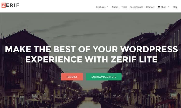 WordPress Themes Zerif Lite