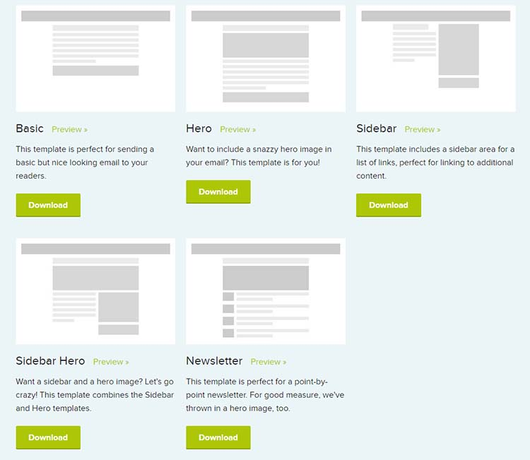 ZURB Ink Email Newsletters Templates