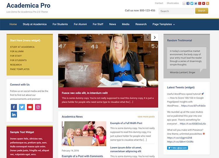 Academica Pro Education WordPress Themes
