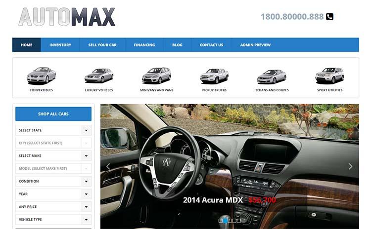 AutoMax Car Dealer WordPress Themes