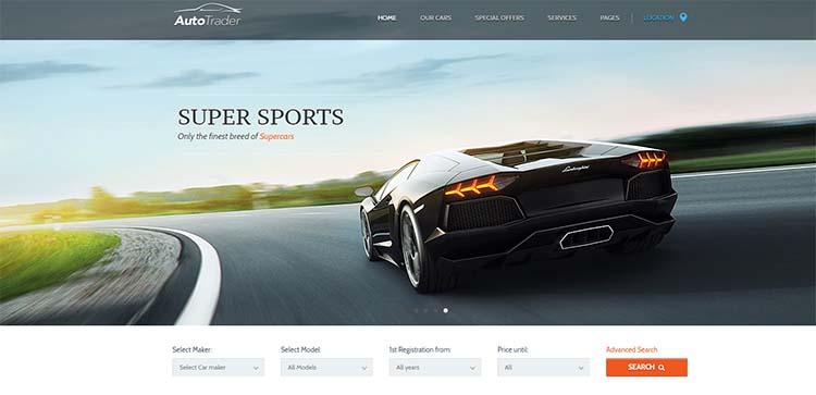 AutoTrader Car Dealer WordPress Themes