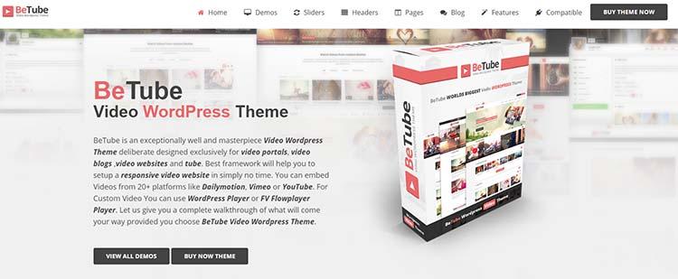 BeTube WordPress Video Themes