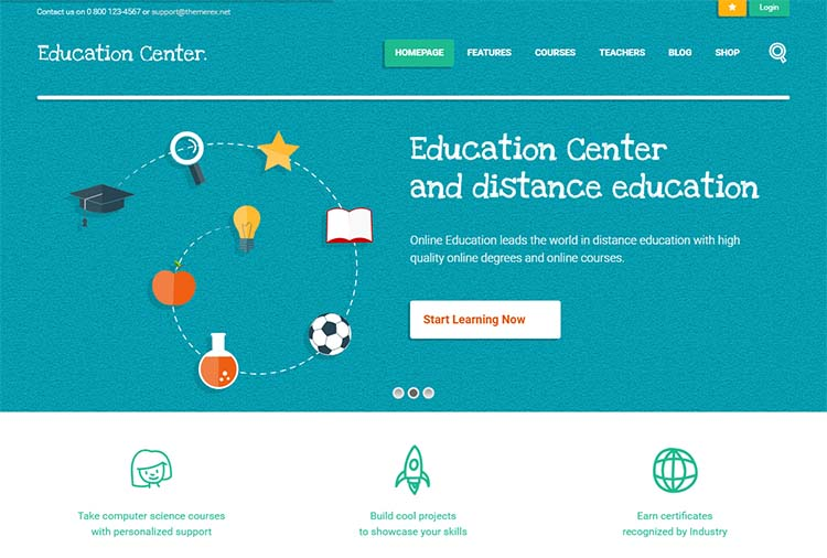 Education Center Education WordPress Themes