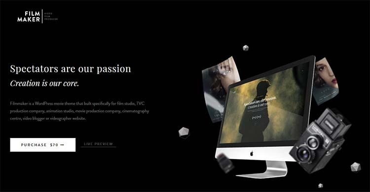 FilmMaker WordPress Video Themes