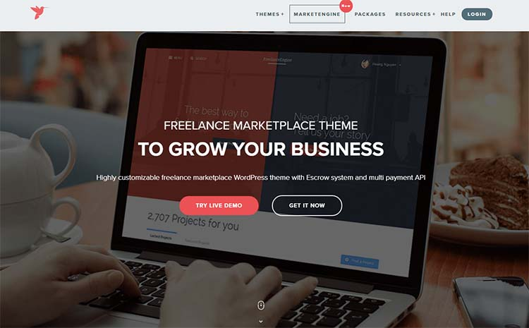 FreelancerEngine Marketplace WordPress Themes