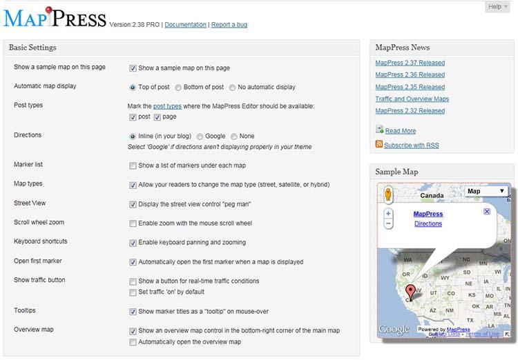 Google Maps Plugins MapPress
