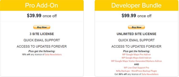 Google Maps Plugins WP Price Plan