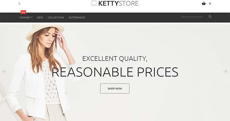 KettyStore Responsive Magento Themes