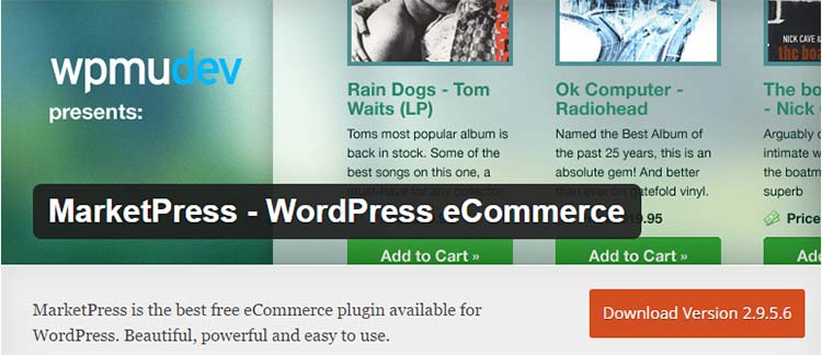 MarketPress WordPress Ecommerce Plugins