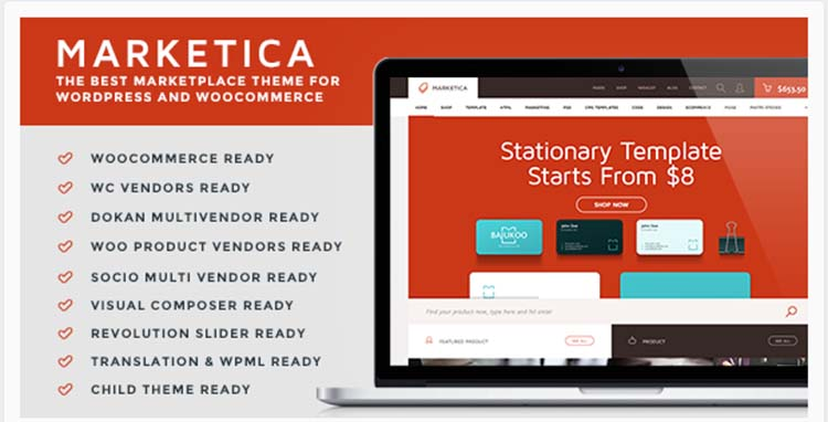 Marketica Marketplace WordPress Themes