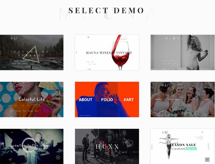 Mauna Minimalist WordPress Themes