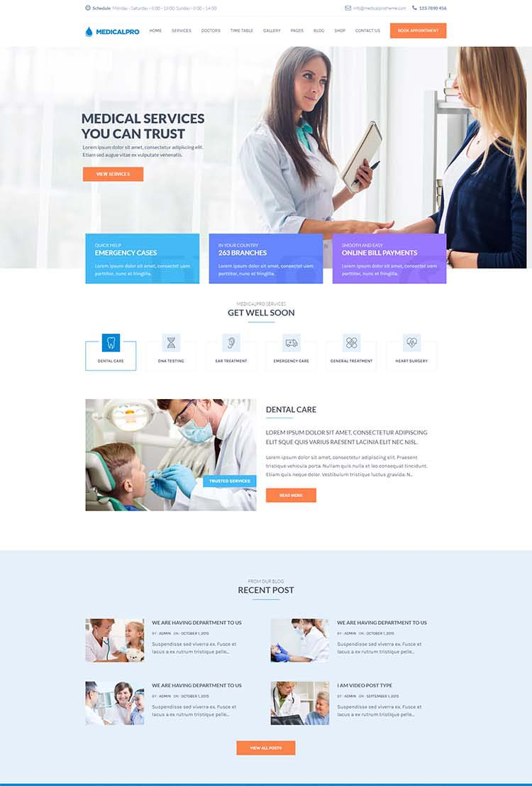Medical Pro Medical WordPress Themes