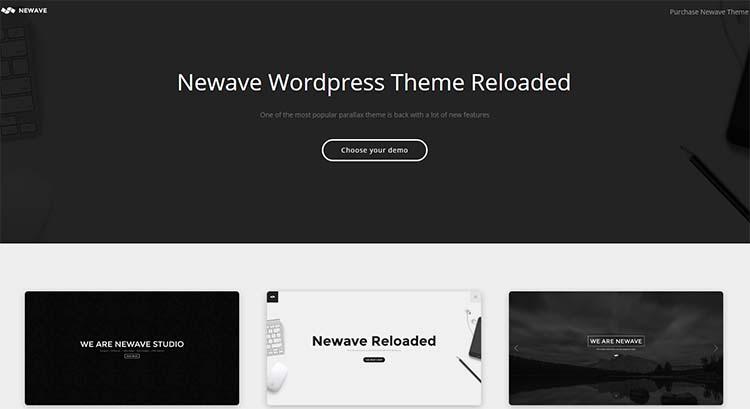 Newave OnePage WordPress Themes