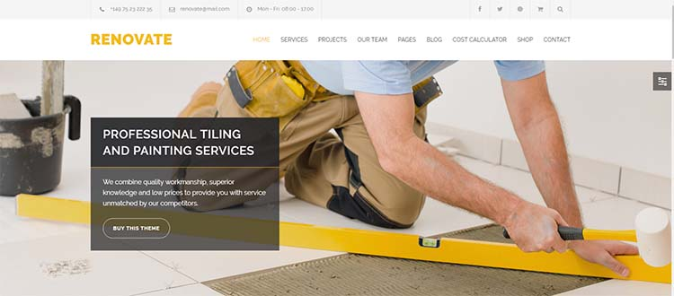 Renovate Construction WordPress Themes