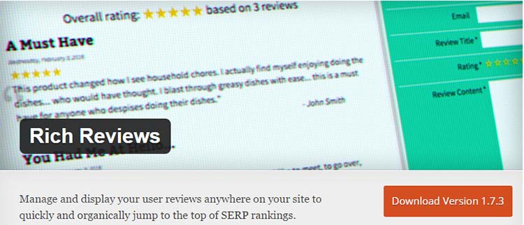 Rich Reviews Snippets Plugins