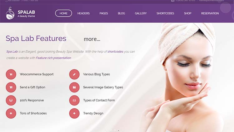 Salon WordPress Themes SpaLab