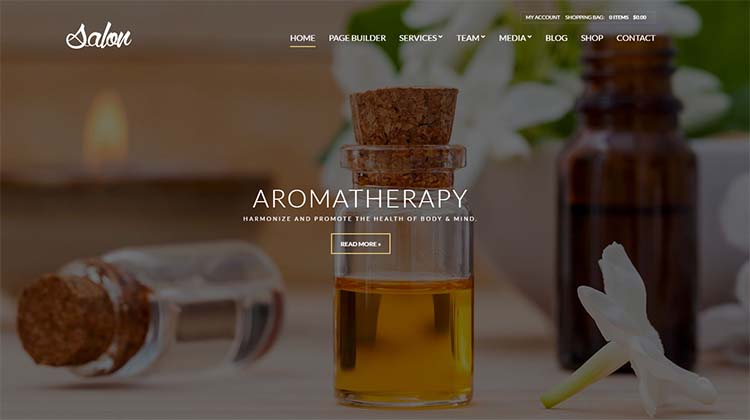 Salon WordPress Themes Tempalte