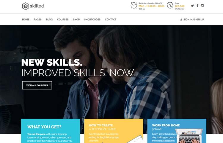Skilled Education WordPress Themes
